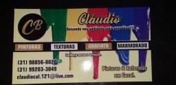 Claudio pinturas e acarbamento