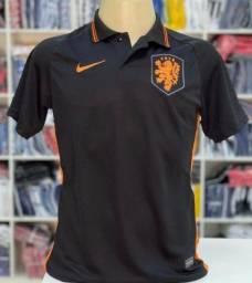 Camisa da Holanda Pólo 2021 Lançamento