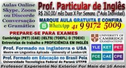 Prof. de Inglês Intensivo ( Online )