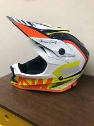 Kit capacete + oculos asw