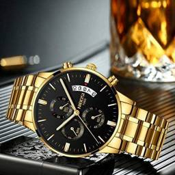 Relógios Nibosi, a prova d'agua e em aço inoxidável!!
