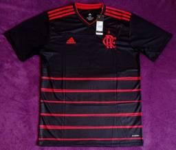 Camisa do Flamengo preta (disponível: P, M e GG)