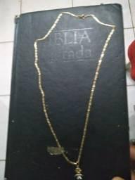 Cordao de Ouro masculino 45 centímetros com pingente