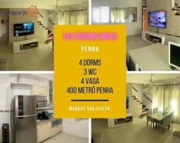 Sobrado Condomínio para alugar, 4 dormitórios, 1 suíte, metrô Penha, Zona Leste.