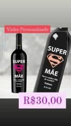 Presente Dia das Mães / Vinho Personalizado / Garrafa de 750ml