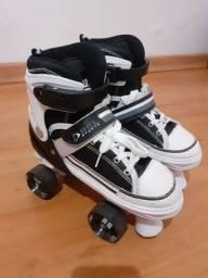 Patins Roller All Slide Classic Preto M(33-36) 4 rodas