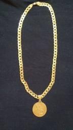 Vendo cordão de prata banhado a ouro 450