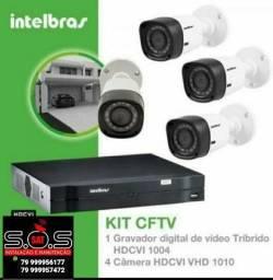 Título do anúncio: Vendemos e instalamos kit câmera segurança Intelbrás
