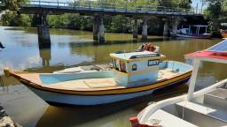 Barco traineira de madeira construção 2010 barco de passeio