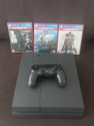 PS4 com jogos