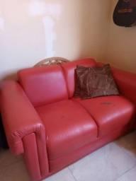 Sofá 02 lugares + almofadas