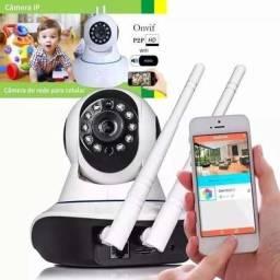 Camera Ip Wireless Sem Fio Wifi Hd 2 Antenas App Yoosee