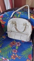 Bolsa de couro off white - AREZZO