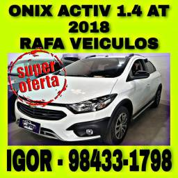 CHEVROLET ONIX ACTIV 1.4 FLEX AT 2018 NA RAFA VEICULOS jwer
