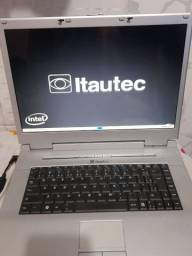 Notebook itautec Intel core i3, 2 de RAM e 80 gigas
