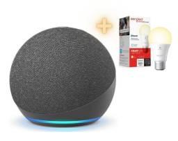 Amazon Echo Dot 4 + Lâmpada Inteligente Sengled