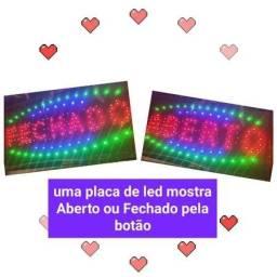 Título do anúncio: Placa Painel Led 2 Em 1 Aberto Luminoso Fechado Letreiro