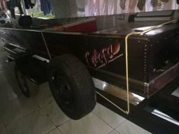 Barco aluminio canoa 5 mt + motor 15 hp 15 mil