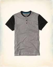 Camisas Gola Henley Hollister Originais (gola padre)