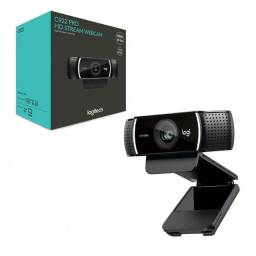 Webcam Logitech Pro Stream C922* (LER DESCRIÇÃO)