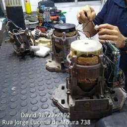 Manutenção em motor de portão