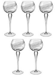 Taça Cristal Para Água Conjunto 5 Peças