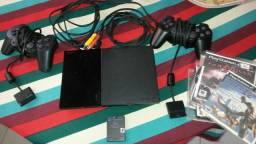 Playstation 2 completo em perfeito estado