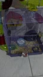 Gaiola para hamster de tubos
