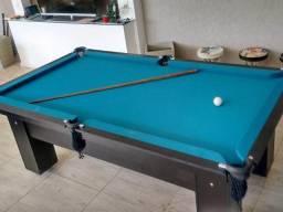 Mesa Preta com Redes Tecido Azul Mod MASL0129