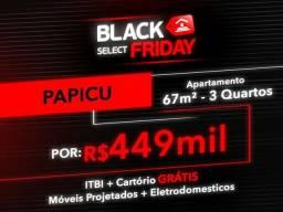 (JR) Black Friday Sensacional Apartamento 67 m² / Condição Especial / No Papicu!