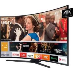 "Smart TV Led Curva 55"" Samsung 55MU6300 UHD 4k com Conversor Digital"