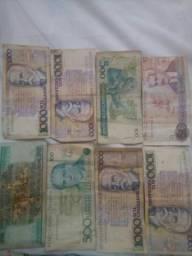 Vendo notas e moedas antigas