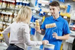 Loja de tintas contrata vendedores (as) com experiência