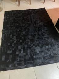 Tapete de couro de boi todo preto 1,50 x 2,00 tapete monte Carlos super luxuoso !