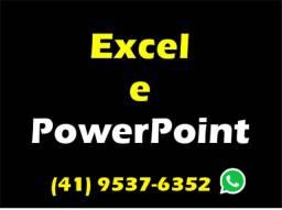 Apresentações em PowerPoint e Criação de Planilhas em Excel