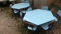 Mesa Sextavada Escolar
