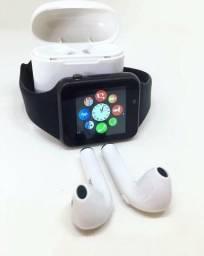 Kit Smartwatch A1 E Fone Fone bluethooth