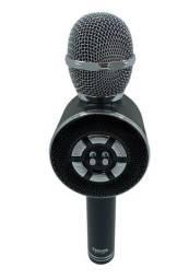 Microfone Caixa Karaokê Canta Playback Mp3 Musicas Youtuber Celular (Preto)