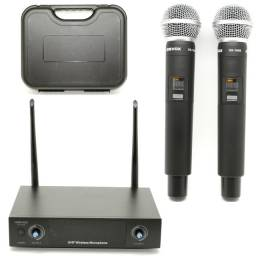 Microfone sem fio duplo Profissional