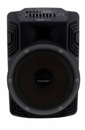 "Caixa AmplificadaEcopowerEP-1928 - Bluetooth - USB/SD - 2 Microfones - 15"""