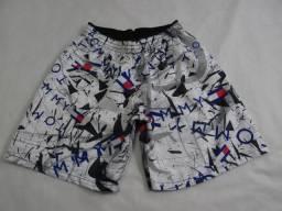 Shorts Masculino Com Elastico Estampado Moda Praia