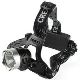 Lanterna De Cabeça Led Cree T6 Zoom Bike Com 2 Baterias E Carregador Veicular