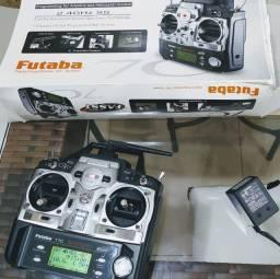 Radio Futaba 7C 2.4Ghz + receptor original Futaba R617FS aeromodelo