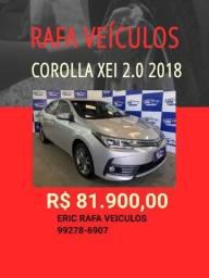 COROLLA XEI 2.0 AT 2018 R$ 81.900,00 - ERIC RAFA VEICULOS