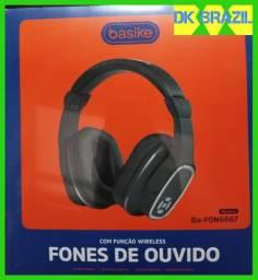 Fone De Ouvido Wireless Headphone Basike