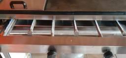 Chapa de lanches e bancada + Fritadeira elétrica