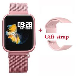 Smartwatch P80 cor rose + pulseira de brinde