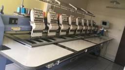 Máquina bordado 8 cabeças 2012. Valor 45 mil
