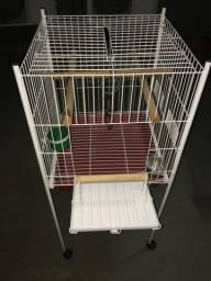 Gaiola para pássaros com acessórios
