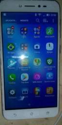 Celular zenfone Asus 32 GB de memória 3 gigas de Ram Branco carcaça Dourado